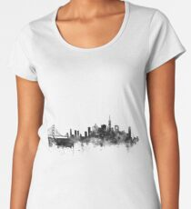 San Francisco Black and White Women's Premium T-Shirt