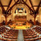 Balcony View - First Presbyterian Church of Evanston by Adam Bykowski