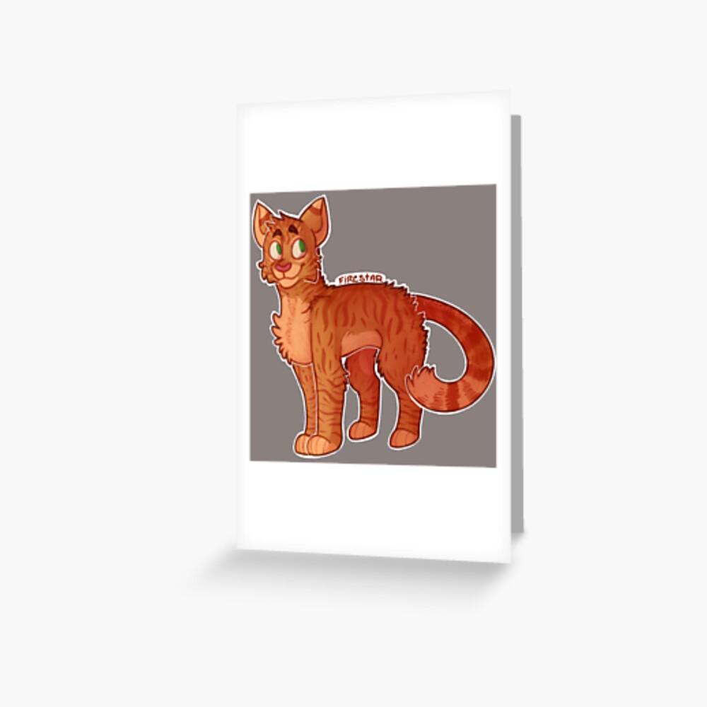 Firestar (Gatos Guerreros) Tarjetas de felicitación
