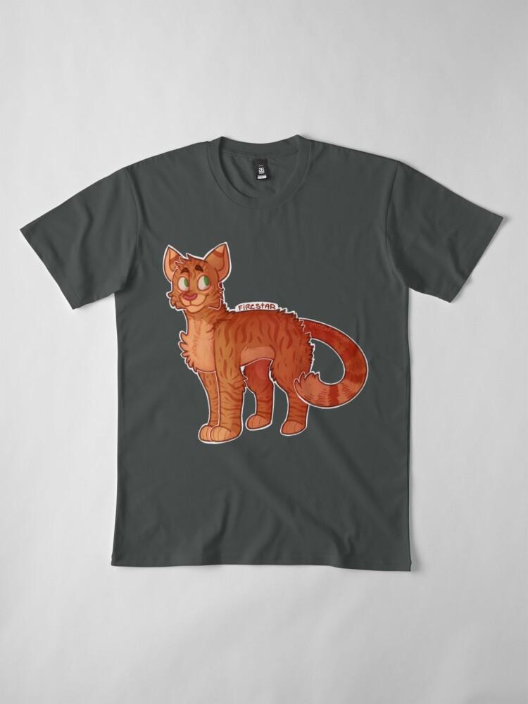 Vista alternativa de Camiseta premium Firestar (Gatos Guerreros)