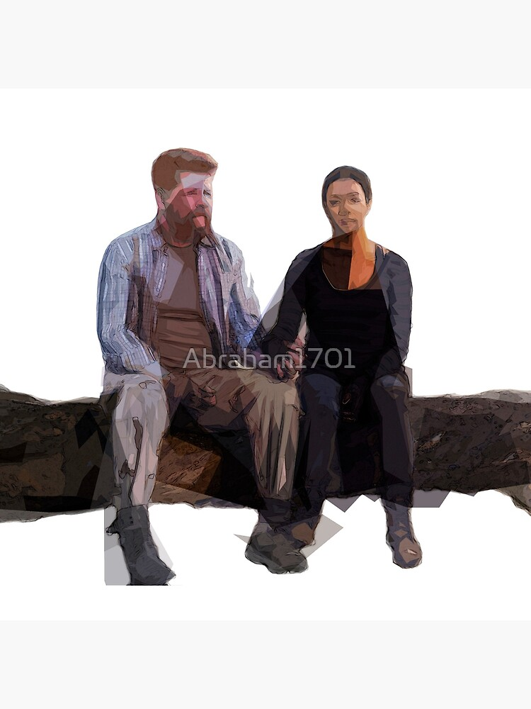 Quot Walking Dead Abraham And Sasha Quot Throw Pillow By