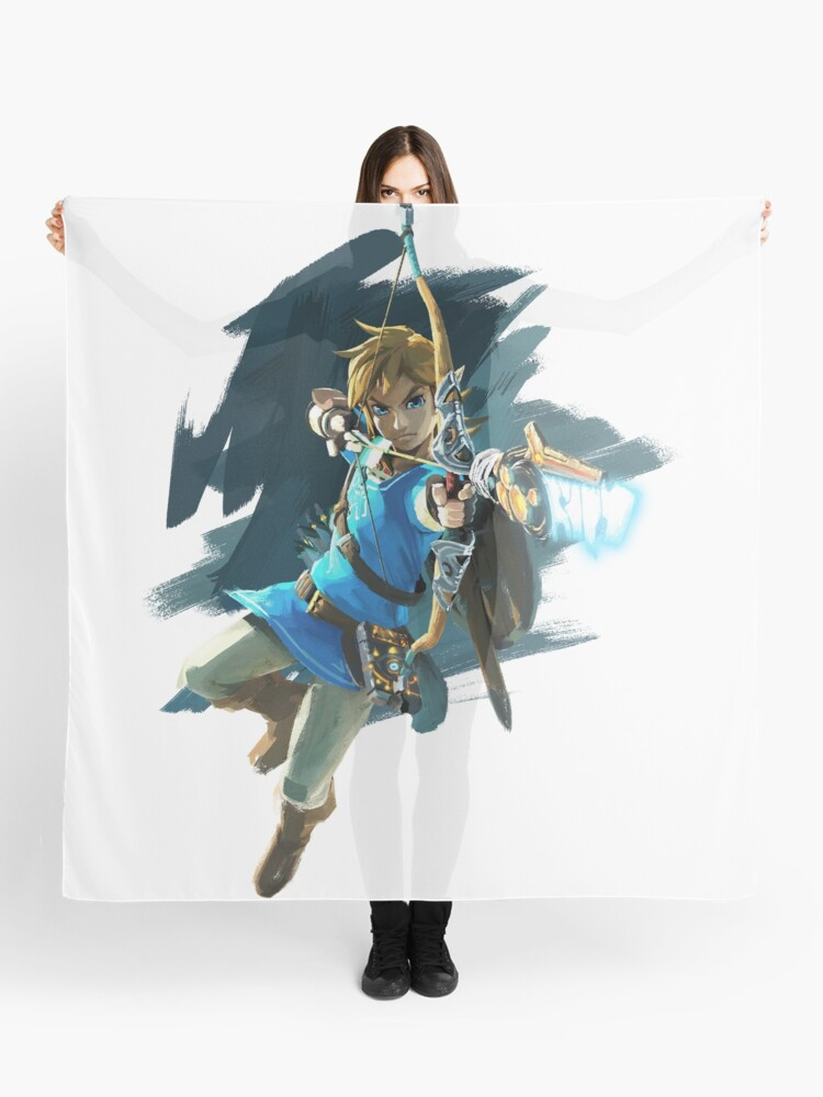 Link With Bow Legend Of Zelda Breath Of The Wild Scarf