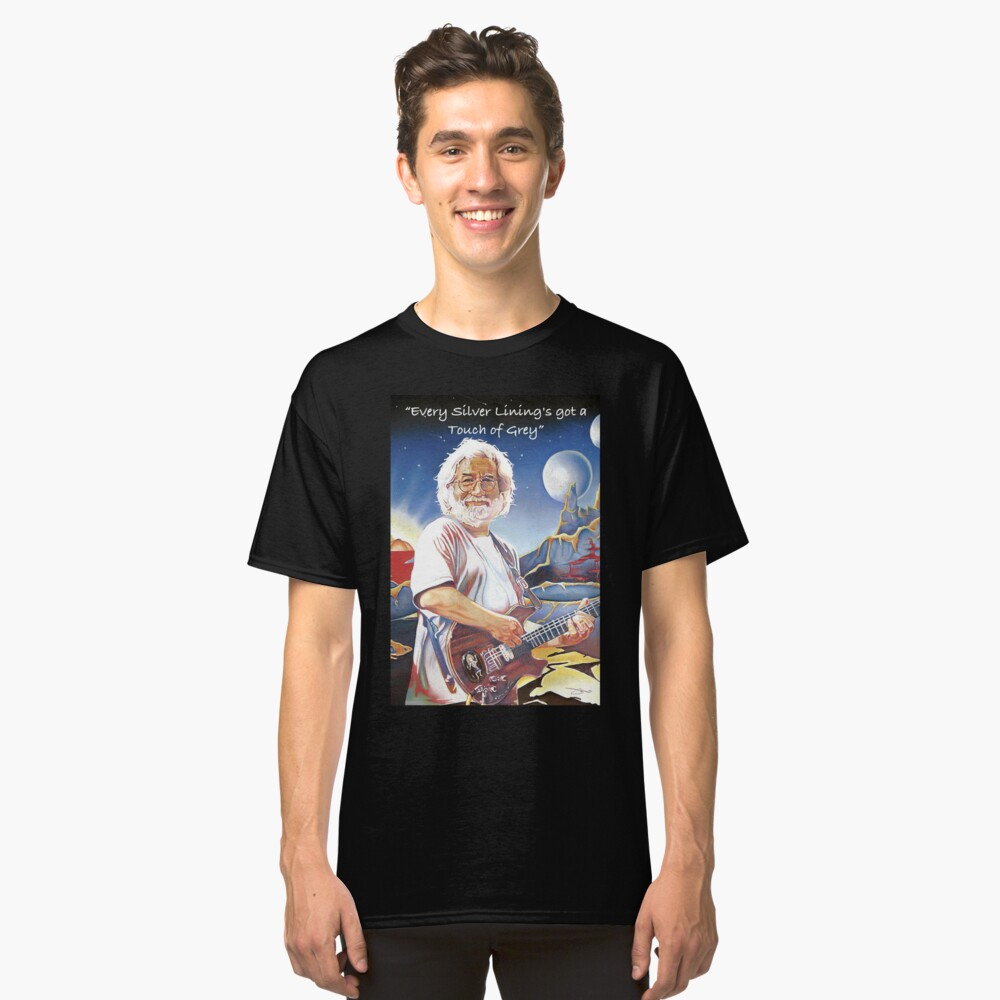 Jerry Garcia - Berührung von Grau Classic T-Shirt