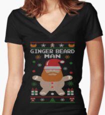 Ginger Beard Man Ugly Tees Women's Fitted V-Neck T-Shirt