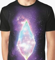 Rainbow Pull in Space Graphic T-Shirt