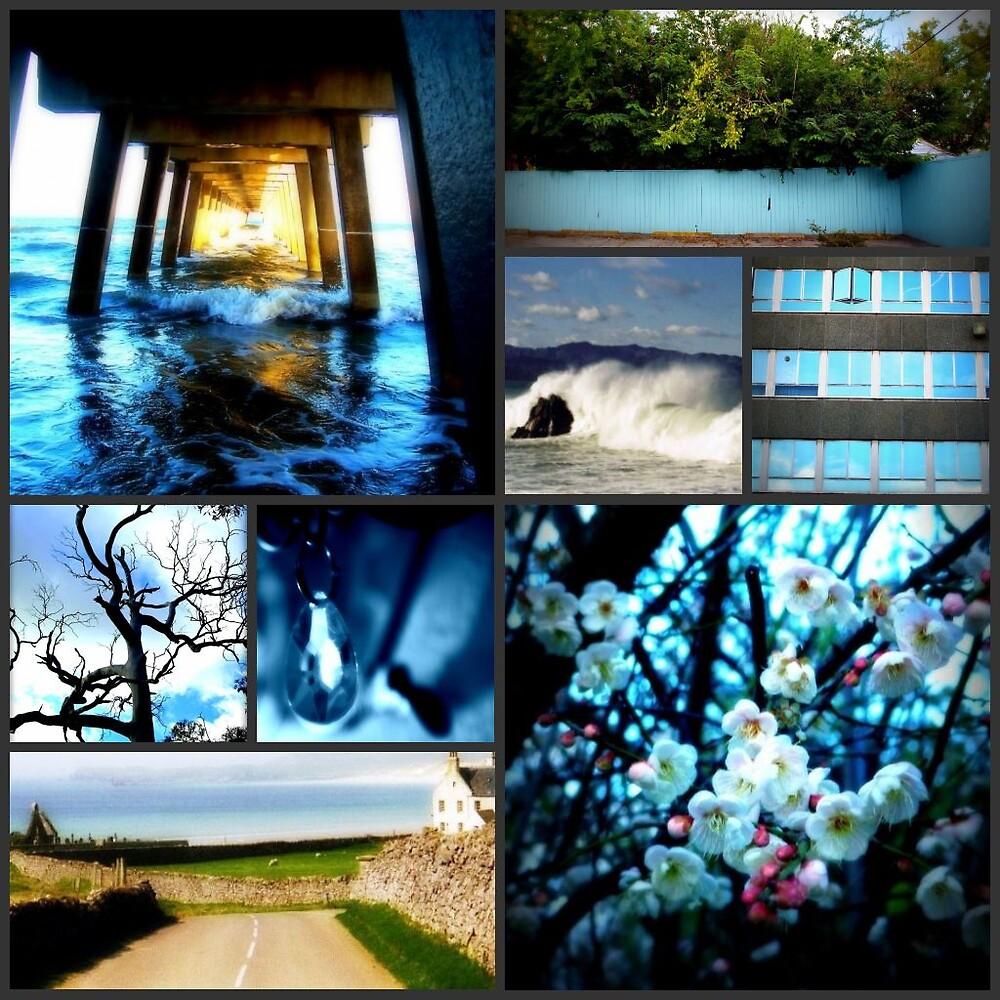 Blue Collage by Shannon Byous Ruddy
