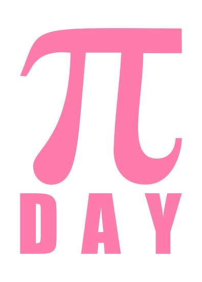 Pink Number Pi Day Mathematical Symbol Posters By Igorsin Redbubble
