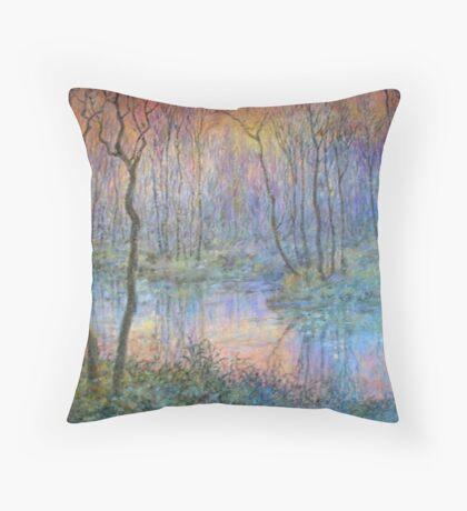 Wetlands at Sunset Throw Pillow