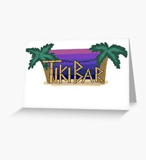 TikiBar Sticker Greeting Card