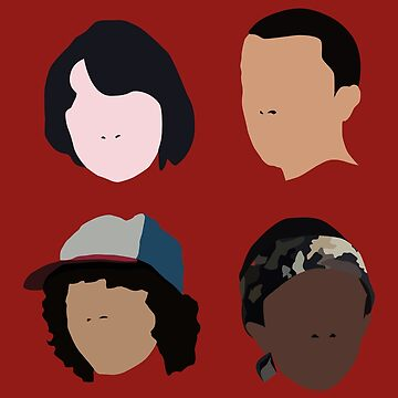 Stranger Things - Mike, Eleven, Dustin, Lucas - THE GUYS by ideando
