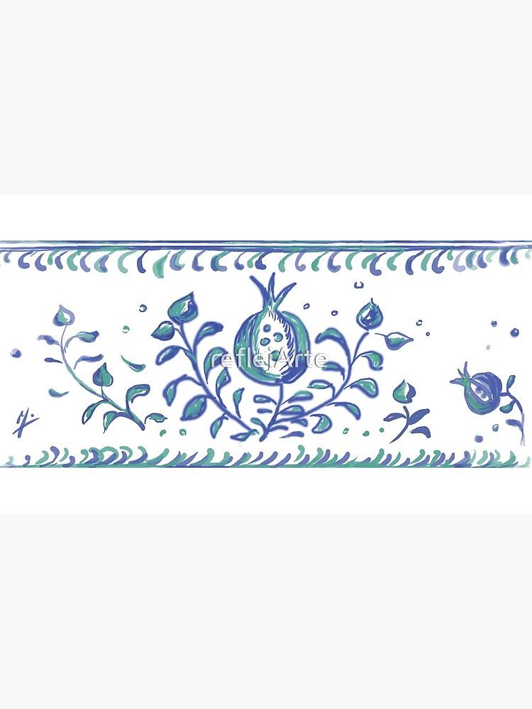 Granada Pottery - Albayzin Style - Symbol of Life, Love & Luck by reflejArte