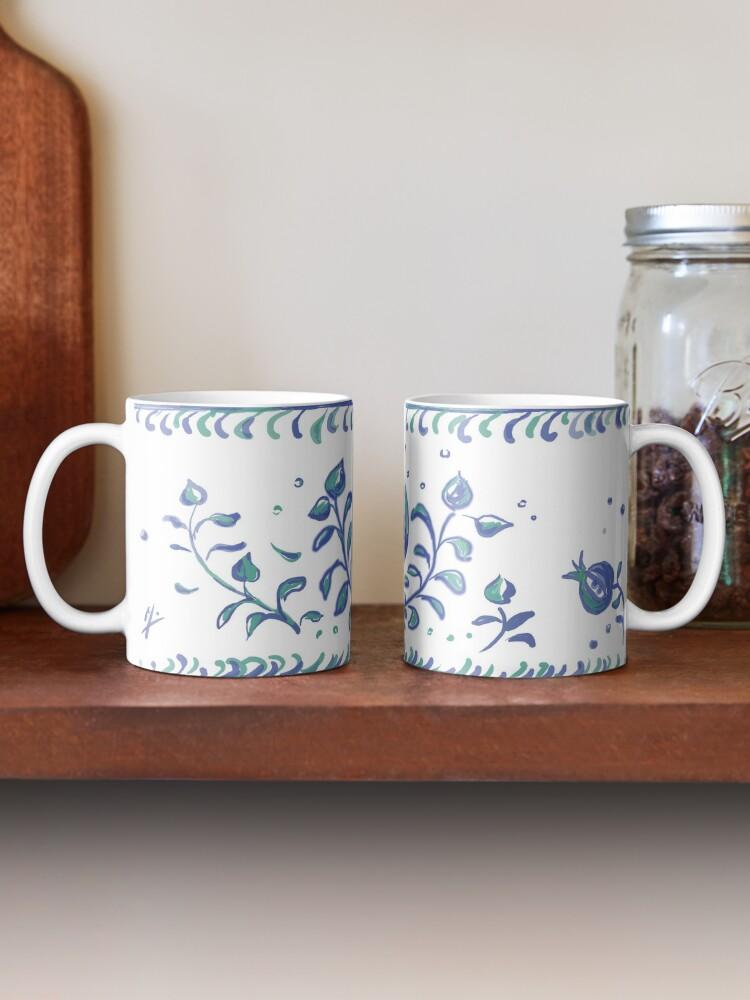 Alternate view of Granada Pottery - Albayzin Style - Symbol of Life, Love & Luck Mug