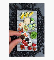 Mexican Food, Finger Sized Photographic Print