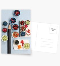 Berries!! Cherries, Strawberries, Gooseberries & a Pencil Postcards