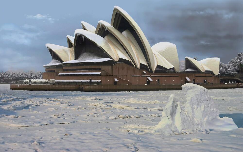 Quot Sydney Opera House Snowstorm Quot By Watertigerleo Redbubble