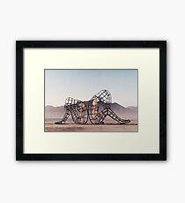 Black Rock Desert Event - Burning Man installation Framed Print