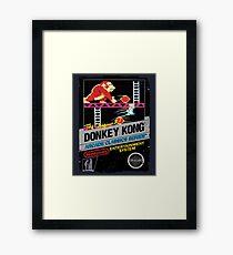 DONKEY KONG NES COVER Framed Print