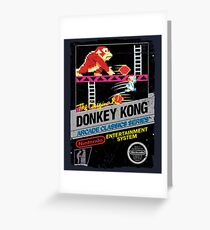 DONKEY KONG NES COVER Greeting Card