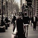 """Collins Street, Melbourne "" by Christine Wilson"