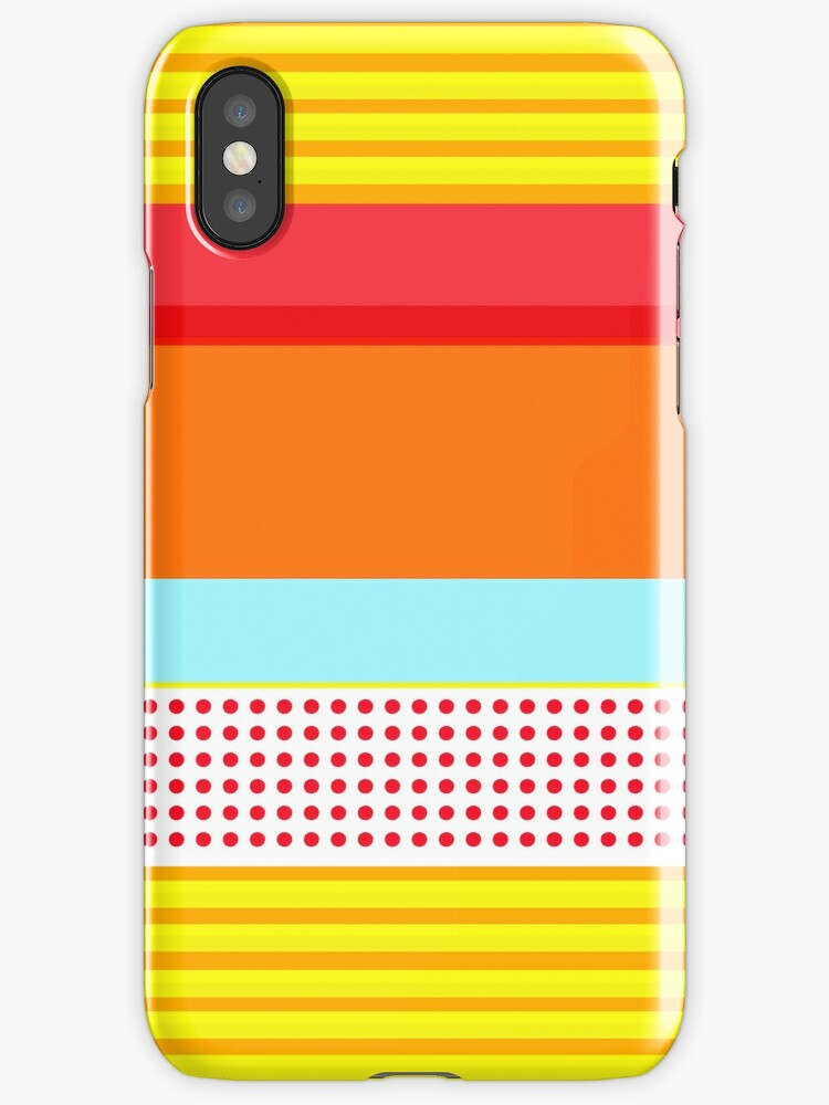 Block color striped case by rupydetequila
