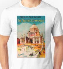 CHICAGO : Vintage 1893 Worlds Fair Advertising Print T-Shirt