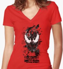 Maximum Carnage Women's Fitted V-Neck T-Shirt