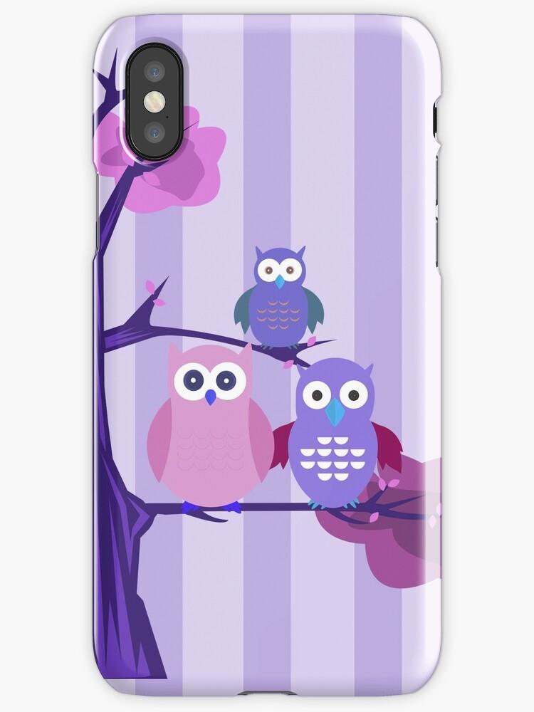Purple Owls by Adam Santana
