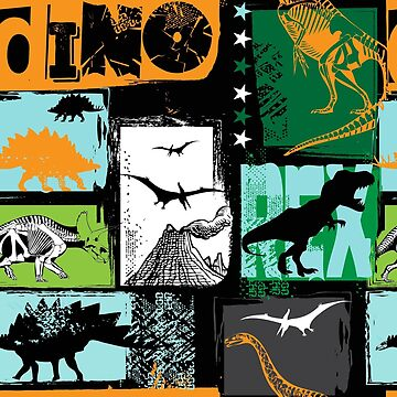 Dinosaur Dino Pattern by DV-LTD