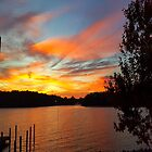 Early Morning Sunrise Over the Coosa River by Charldia