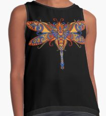 Beautiful Ornate Dragonfly Art Contrast Tank