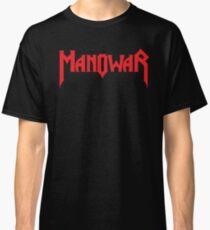 Band Manowar Logo Red Classic T-Shirt