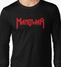 Band Manowar Logo Red T-Shirt