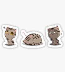 Funny cat set Sticker