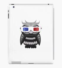 Owl - 3D Glasses - White iPad Case/Skin