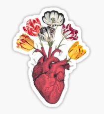 Heart with tulips Sticker