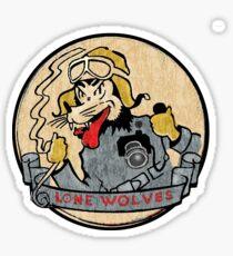 Lone wolf Patch ww2 Sticker