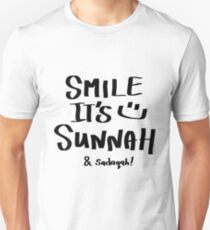 Smile it's Sunnah & Sadaqah I Unisex T-Shirt
