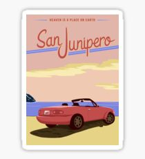 Pegatina Cartel de viaje de San Junipero