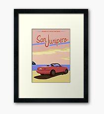 San Junipero Travel Poster Framed Print