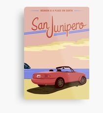 San Junipero Travel Poster Metal Print