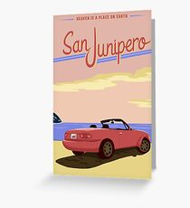 San Junipero Travel Poster Greeting Card