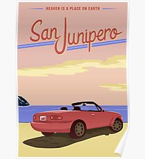 San Junipero Travel Poster Poster