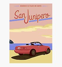 San Junipero Travel Poster Photographic Print