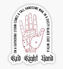 'Red Right Hand' t-shirt from the hit show Peaky Blinders.  Sticker