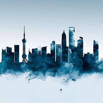 Shanghai Skyline by MonnPrint