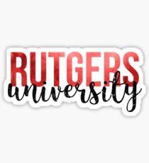 Rutgers University Sticker