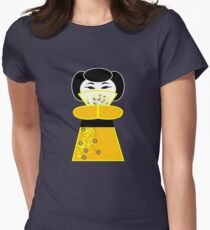 Cute 'lil Yellow Geisha Womens Fitted T-Shirt