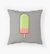 Juicy ice cream Throw Pillow