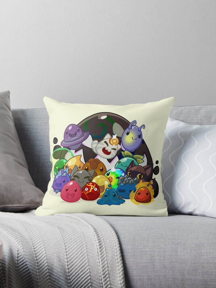'Slime Rancher' Throw Pillow by m00nstonee