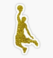 Golden Basketball Sticker Sticker